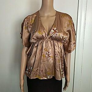 Kimono Style Silk Top